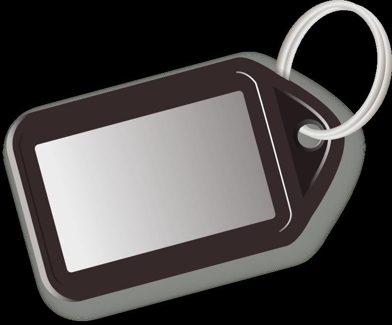 Free Clipart: Brown Key Tag | snowdrop