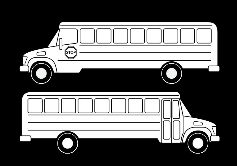 Free Deux bus scolaires noirs