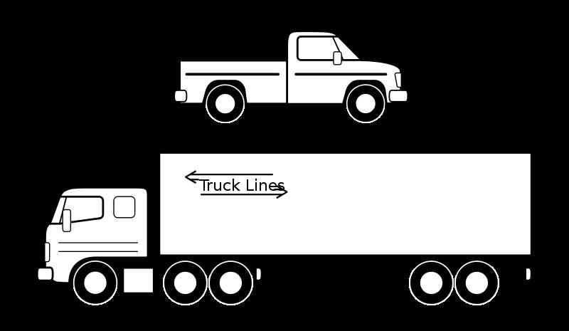 Free Pickup et camion noirs