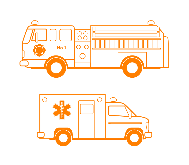 Free Fire and EMS Vehicles