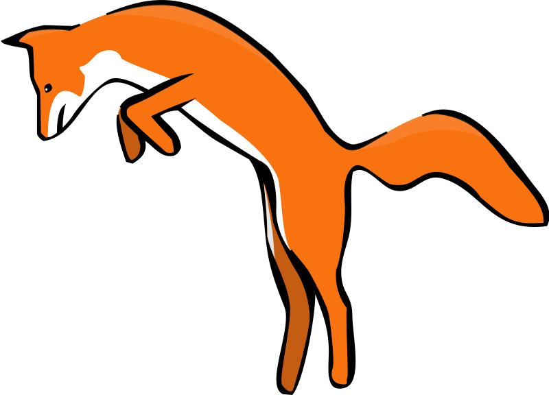 Free Leaping Red Fox