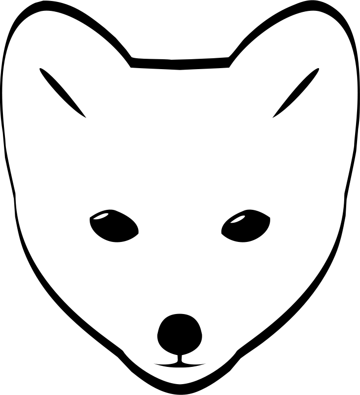 Free Arctic Fox head