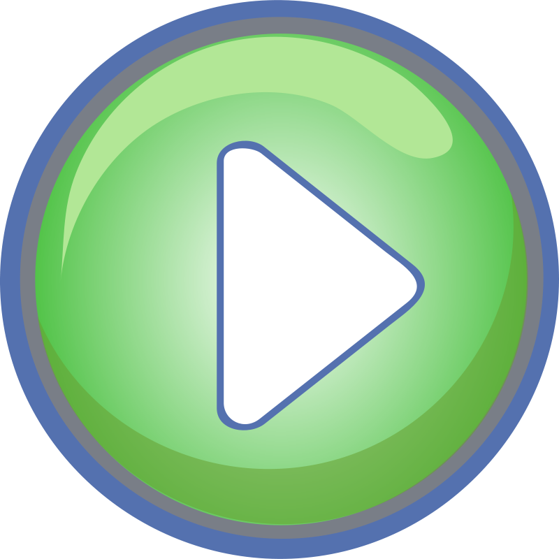 Free Play Button Green with Blue Border