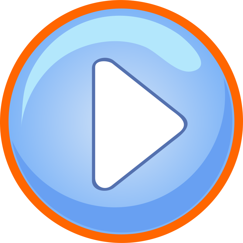 Free Blue Play Button With Focus