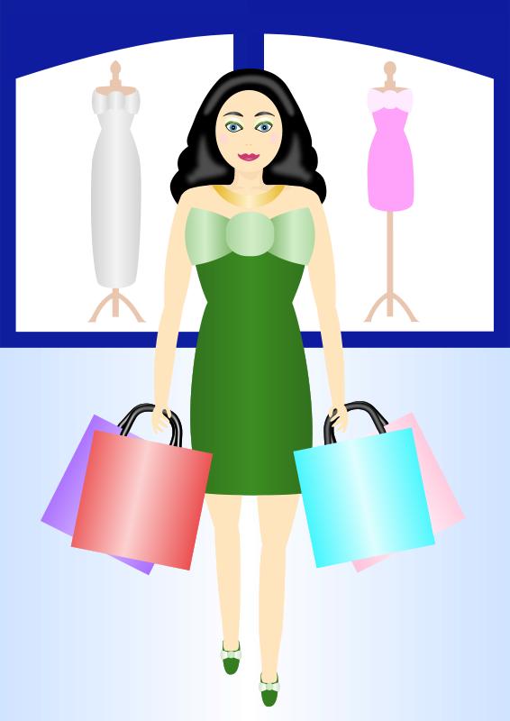 Free Woman shopping