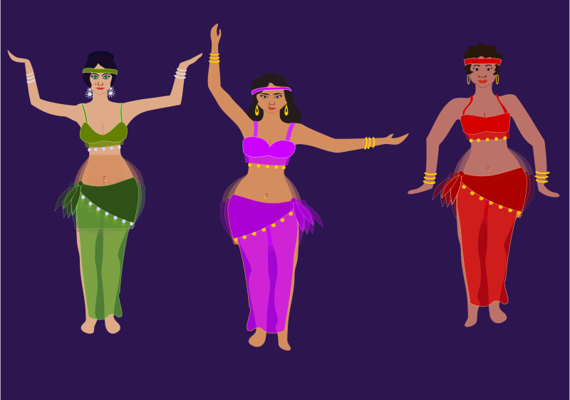 Free belly dancers