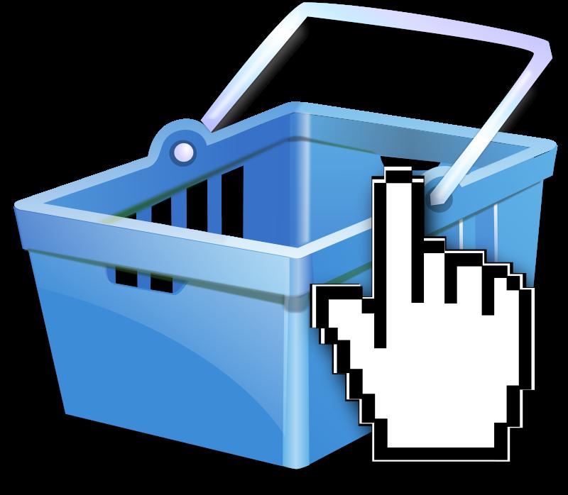Free Shopping basket blue