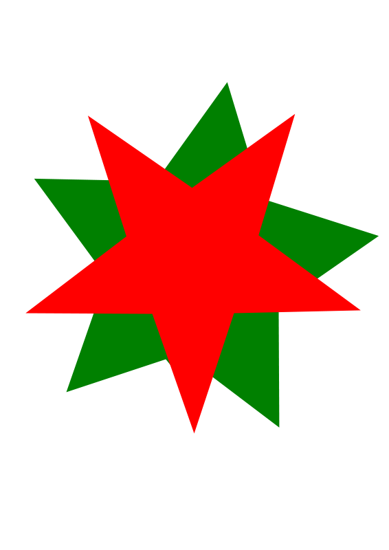 Free GreenRedStars