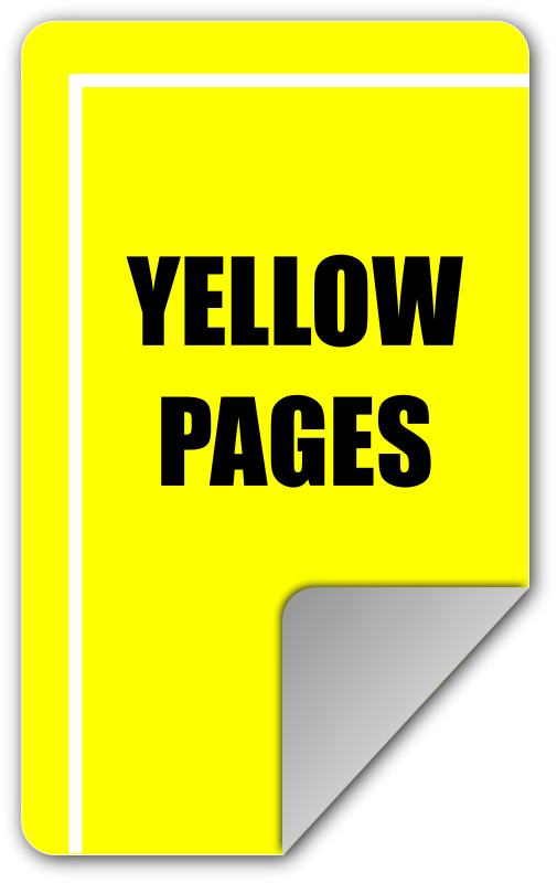 The Yellow Pages Clip Art