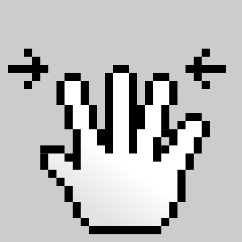 Free MultiTouch-Interface Pixel-theme 5-fingers-Pinch