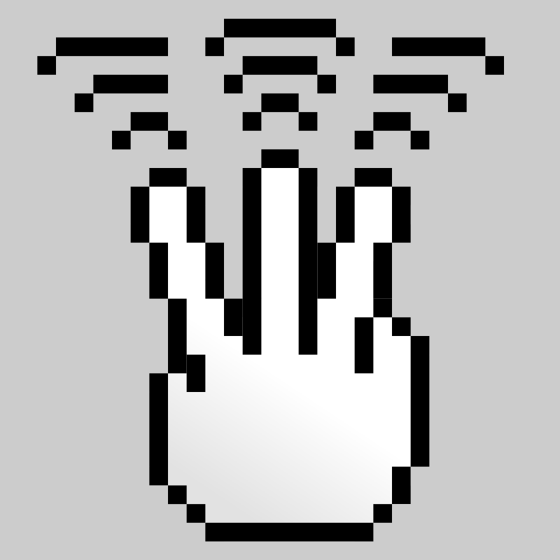 Free MultiTouch-Interface Pixel-theme 3-fingers-Triple-Tap
