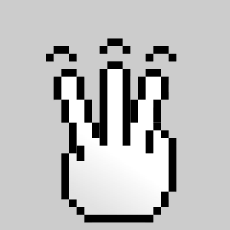 Free MultiTouch-Interface Pixel-theme 3-fingers-Simple-Tap