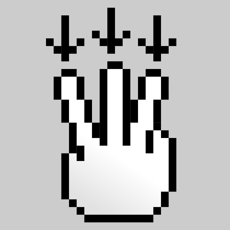 Free Clipart: MultiTouch-Interface Pixel-theme 3-fingers-Drag-Down | BenBois