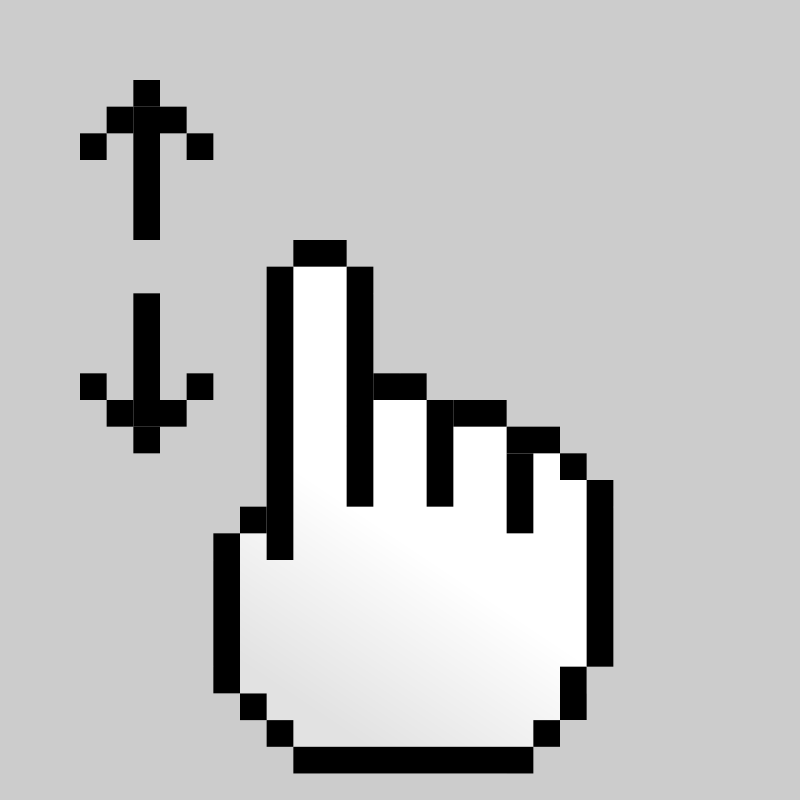 Free MultiTouch-Interface Pixel-theme 1-finger-Scroll