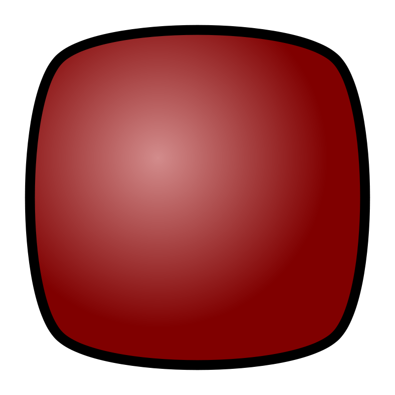 Free Stop Button, red, for media player