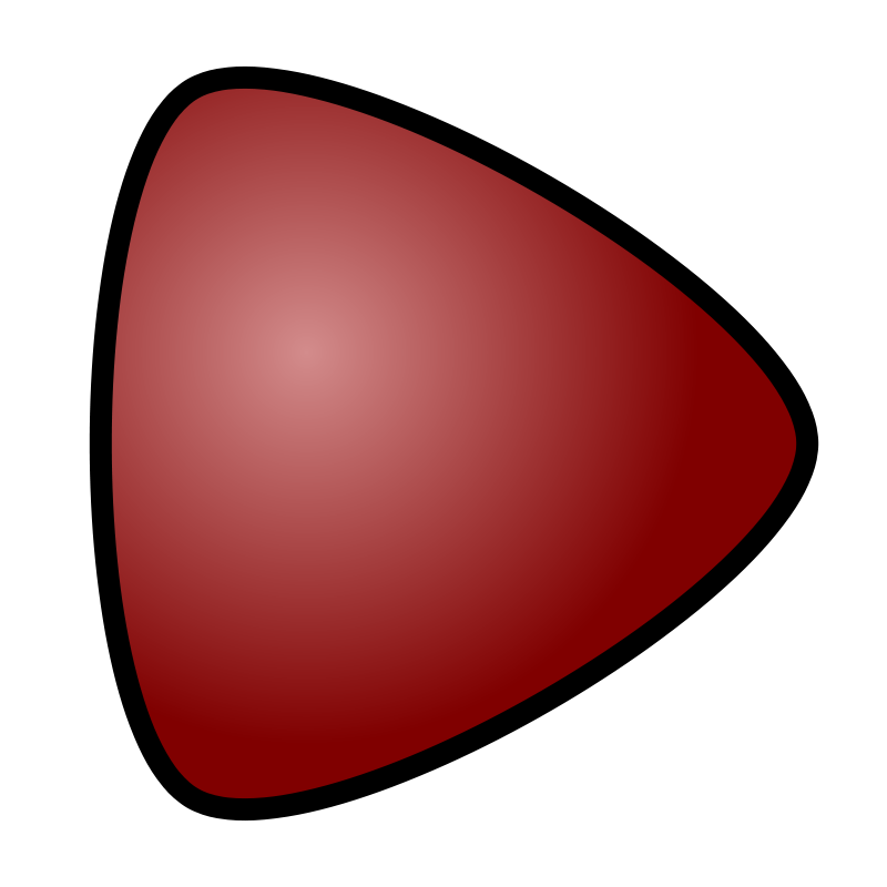 Free Play Button, red, for media player