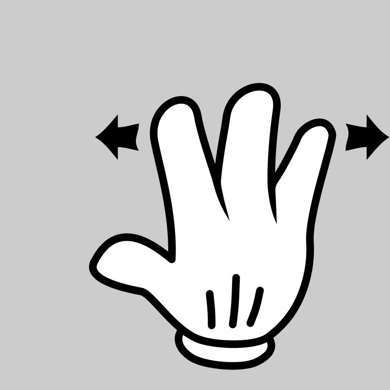 Free MultiTouch-Interface Mouse-theme 3-fingers-Spread