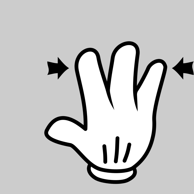 Free MultiTouch-Interface Mouse-theme 3-fingers-Pinch