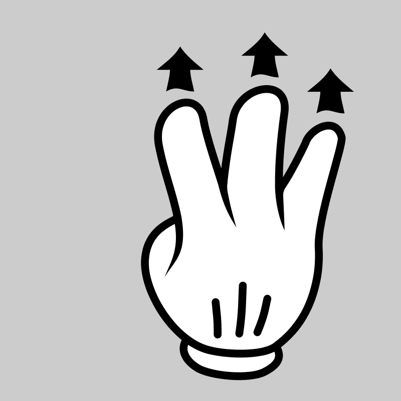 Free MultiTouch-Interface Mouse-theme 3-fingers-Drag-Up