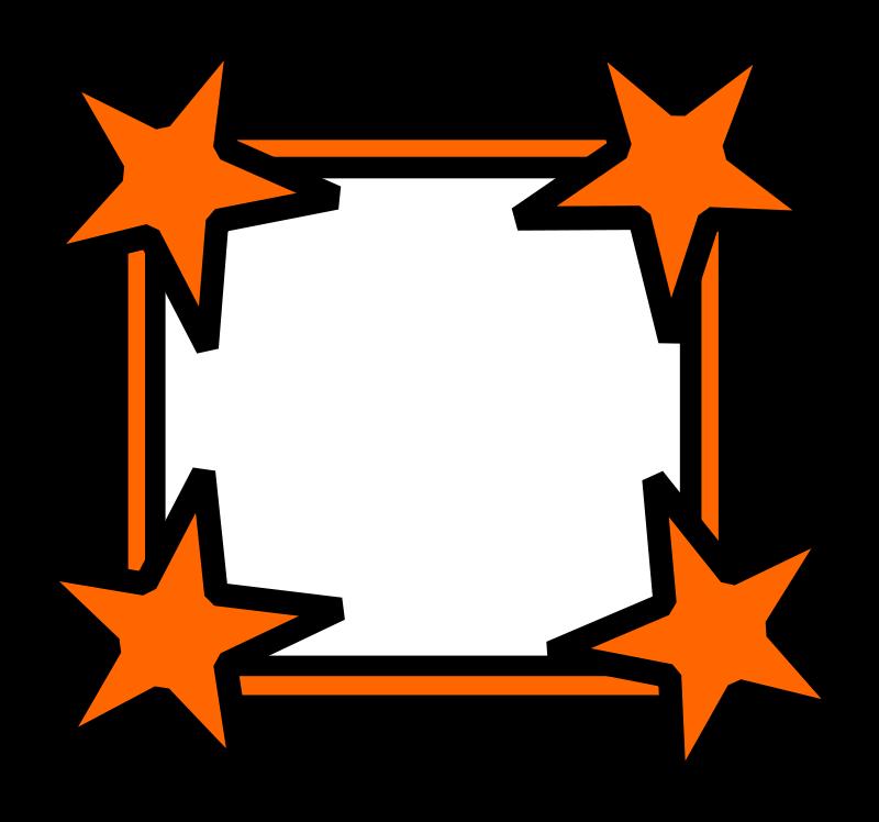 Free Simple Star Cornered Frame