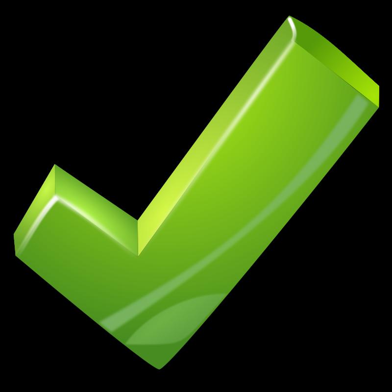 Free green tick