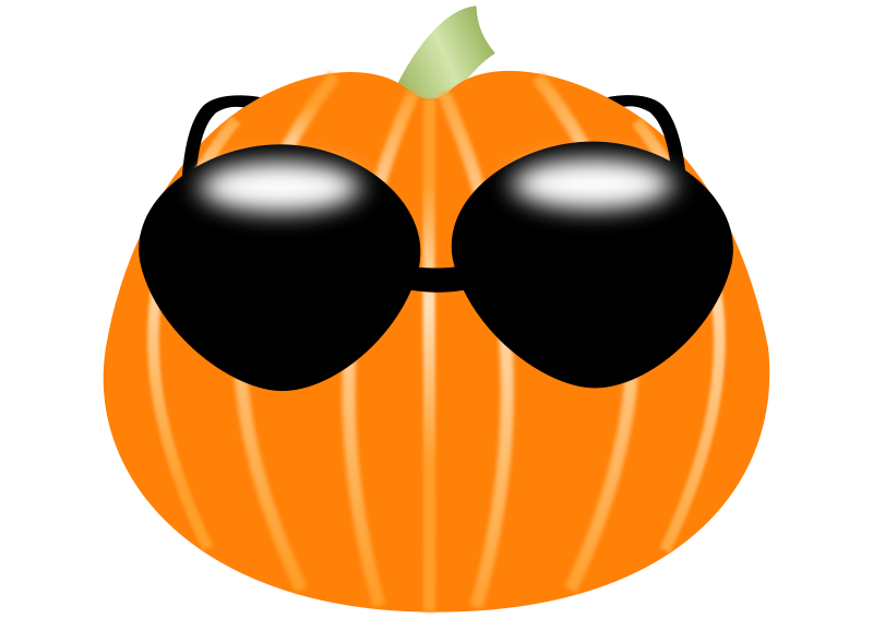 Free Pumpkin wearing sunglasses