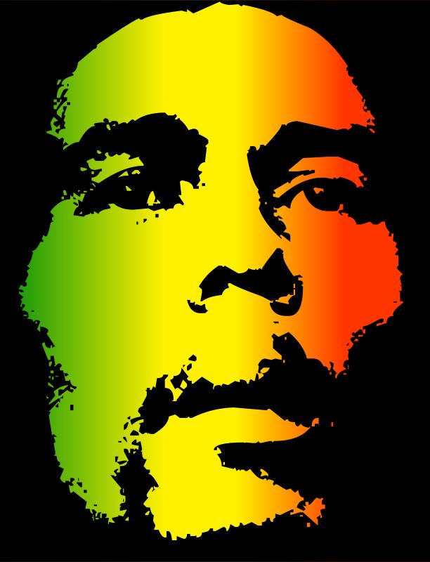 free clipart bob marley kuba rh 1001freedownloads com Bob Marley SVG bob marley black and white clipart