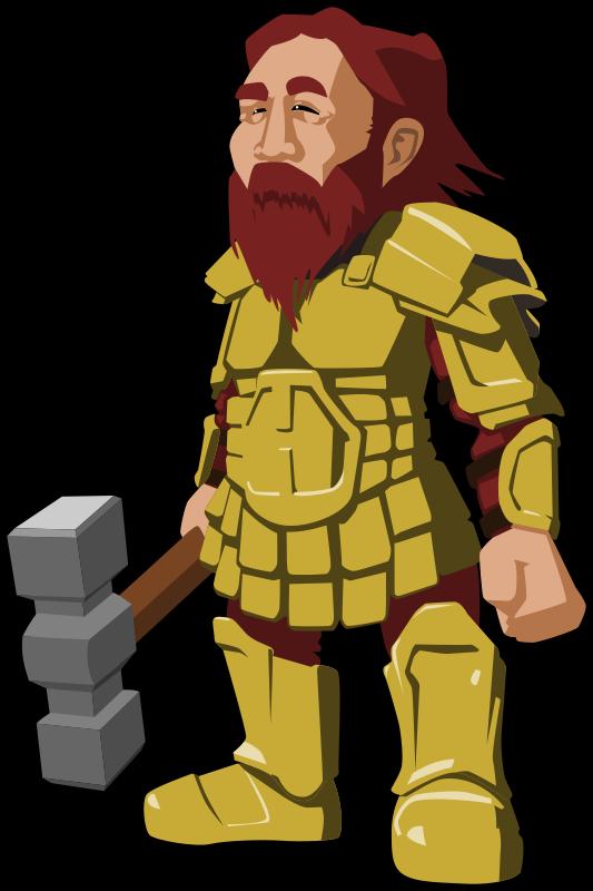 Free Clipart: Dwarf warrior | tzunghaor
