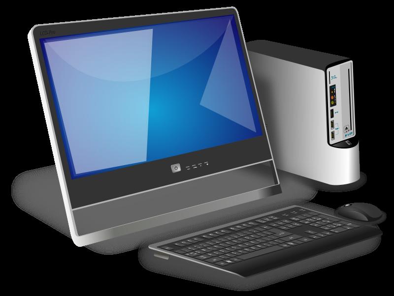 Free Clipart: Generic office desktop | spylt