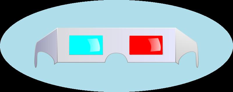 Free Clipart: 3D Glasses   studio_hades