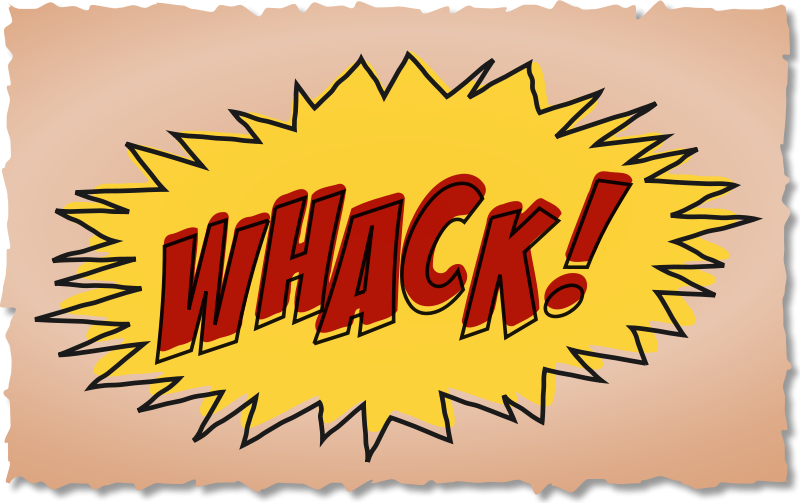 Free Whack comic book sound effect