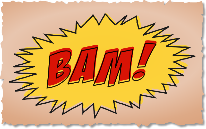 Free BAM comic book sound effect