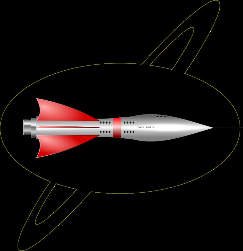 Free 1950's Rocket Ship
