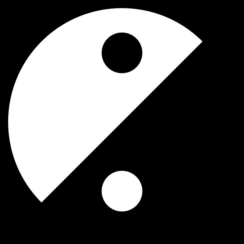 Free Simple Yin Yang Icon
