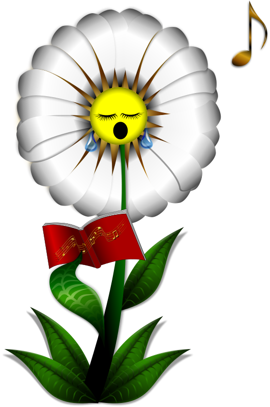 Free Clipart: Singing Daisy | Merlin2525