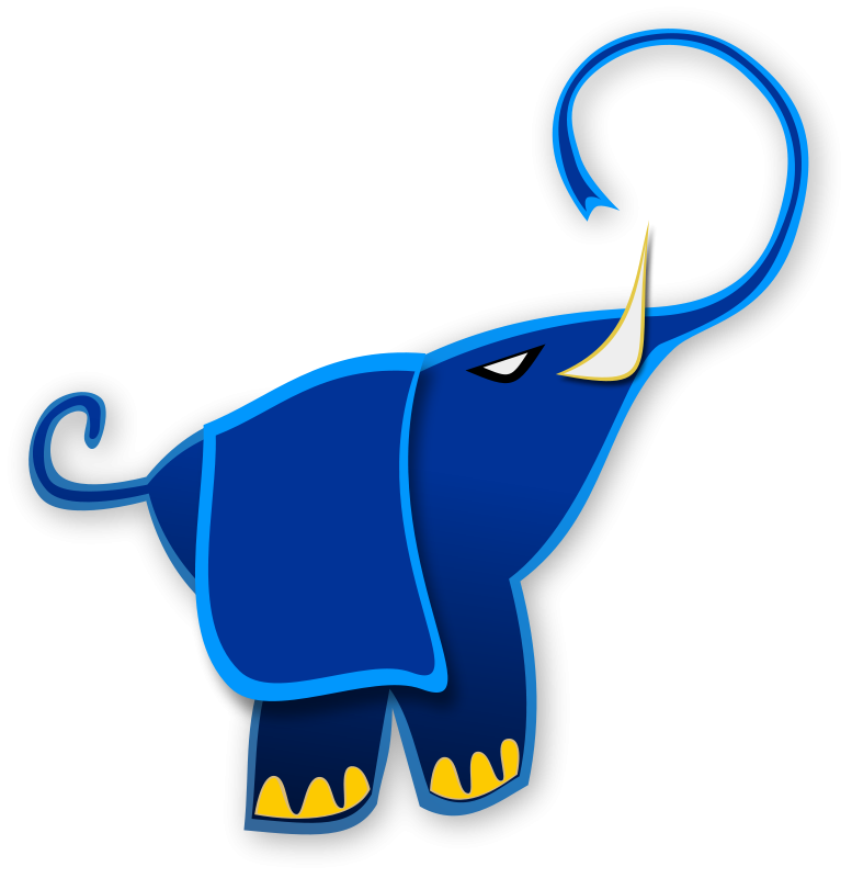 Free Clipart: Blue Elephant | Merlin2525