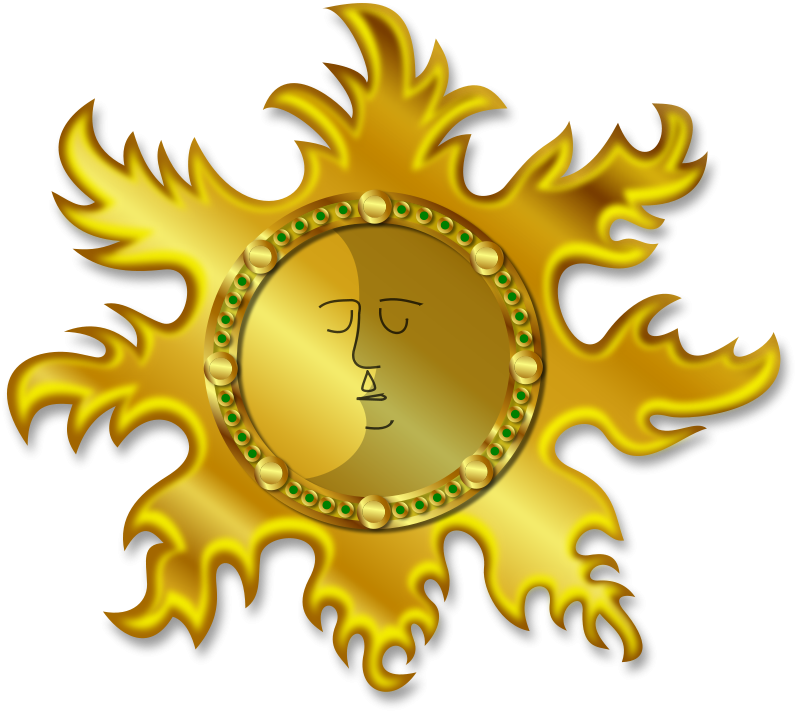 Free Clipart: Sun and Moon | Merlin2525