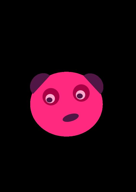 Free Pink Panda Face