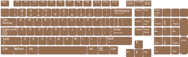 Free Clipart: US English Keyboard Layout V0 1 | nitiraseem