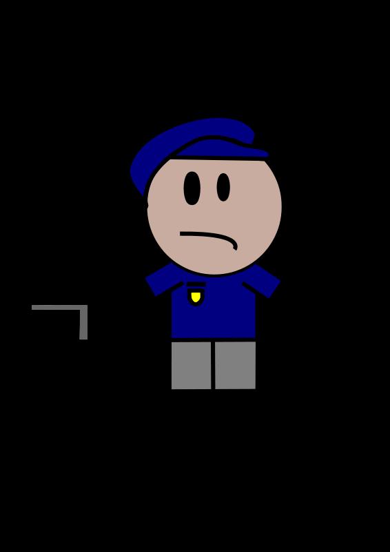Free Police Stick Figure