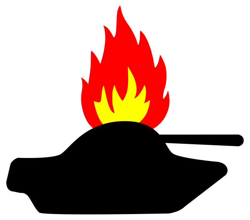 Free burning tank