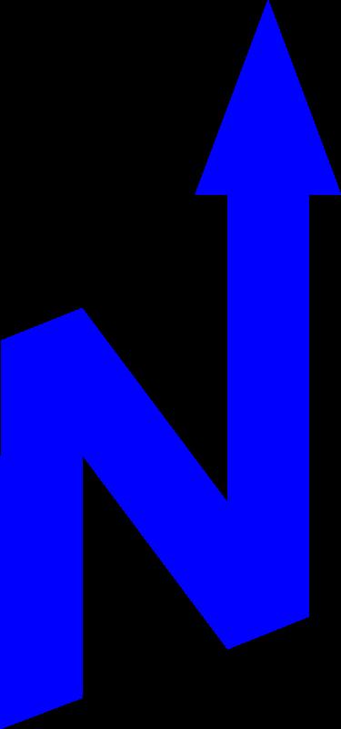 Free north arrow orienteering