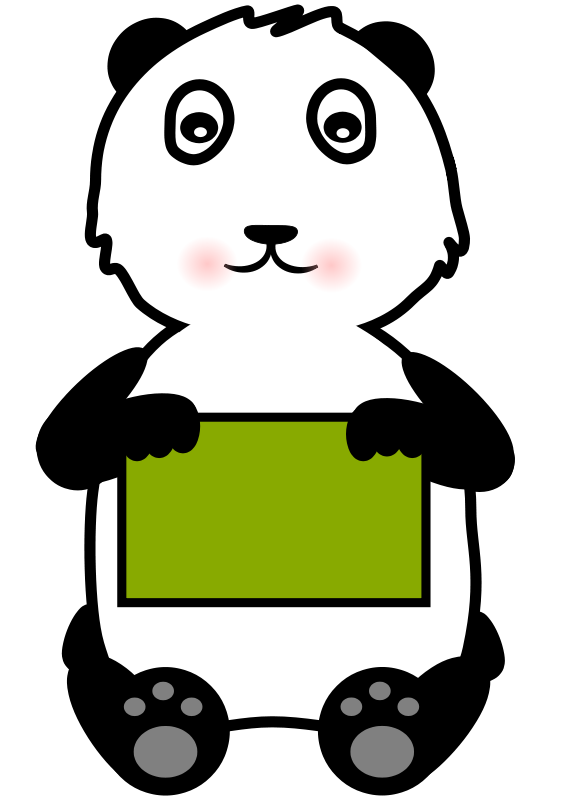 Free Panda Holding a Sign