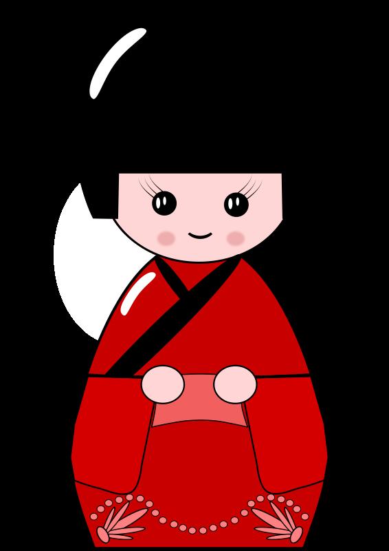Free Japanese Kokeshi Doll