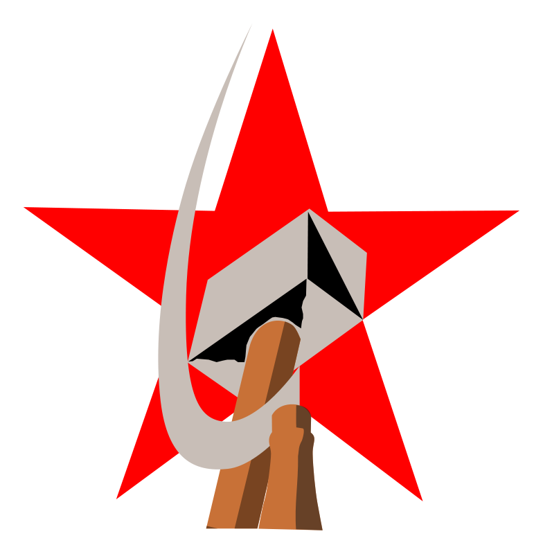 Free hammer and sickle in star