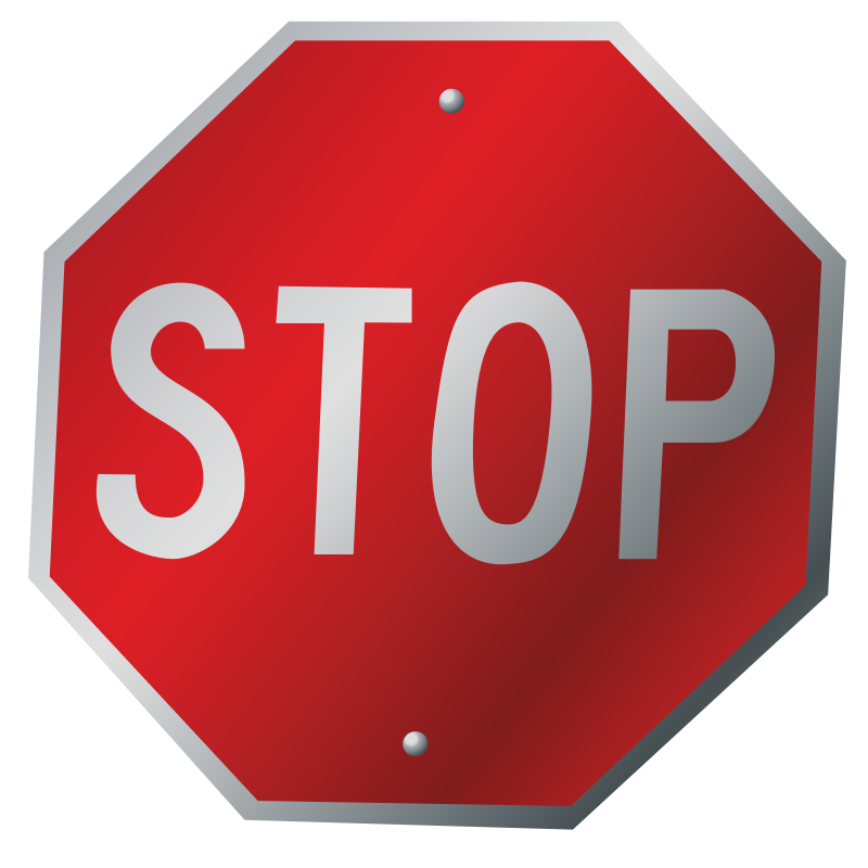 Free A stop sign