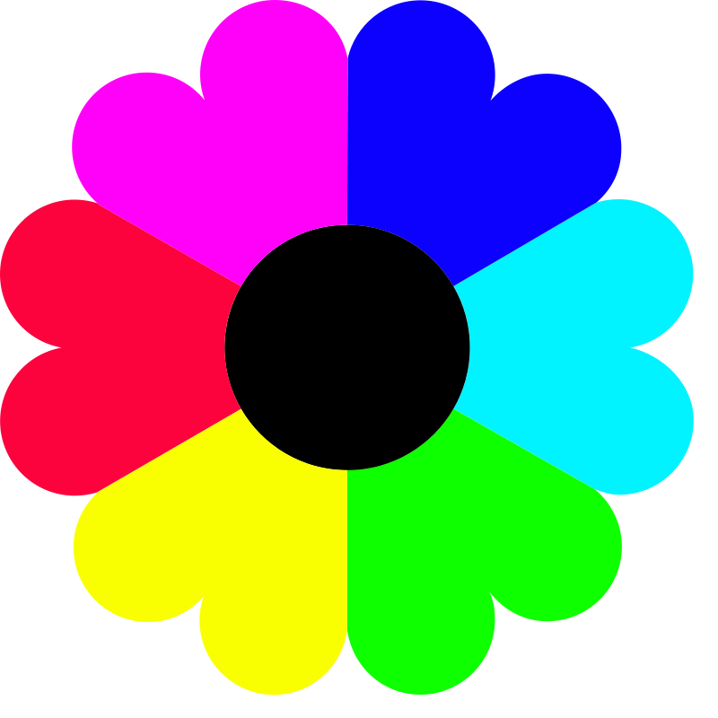 Flower colorful. Free clipart colors abc