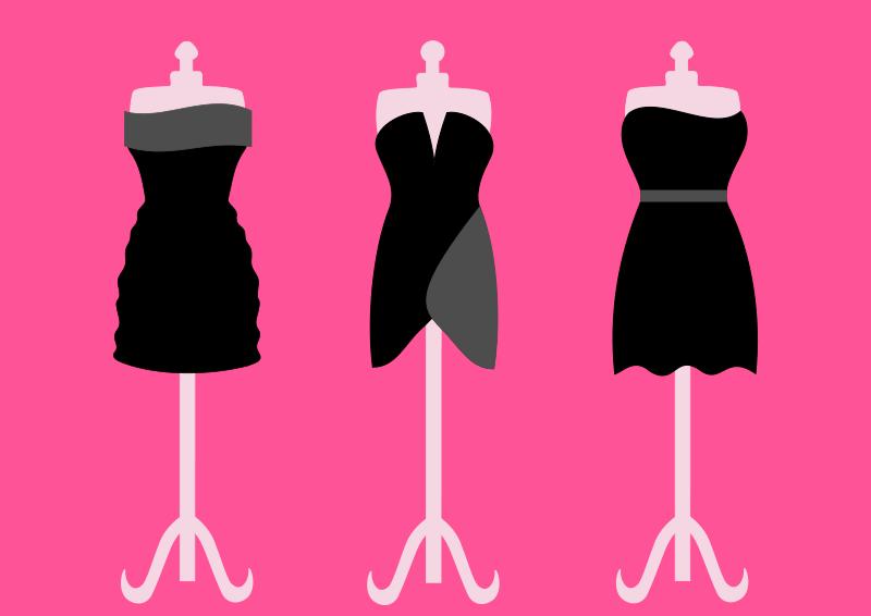 Free Three black dresses