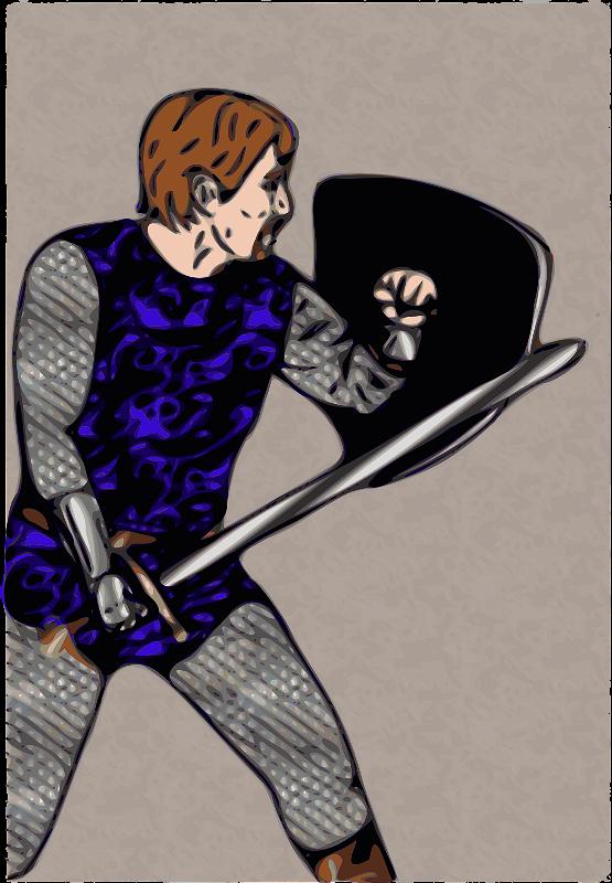 Free Clipart: Scale Armor Warrior   jpneok