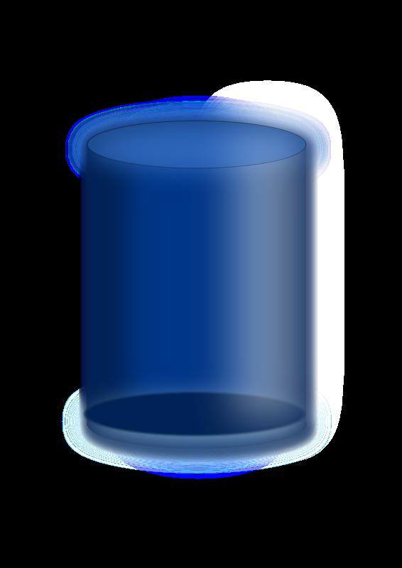 Free Blue cylinder